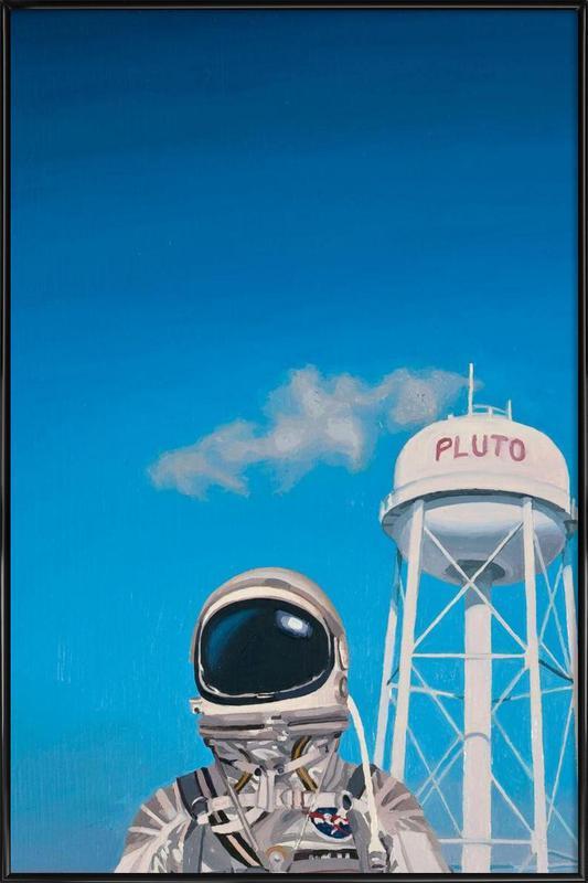 Pluto affiche encadrée