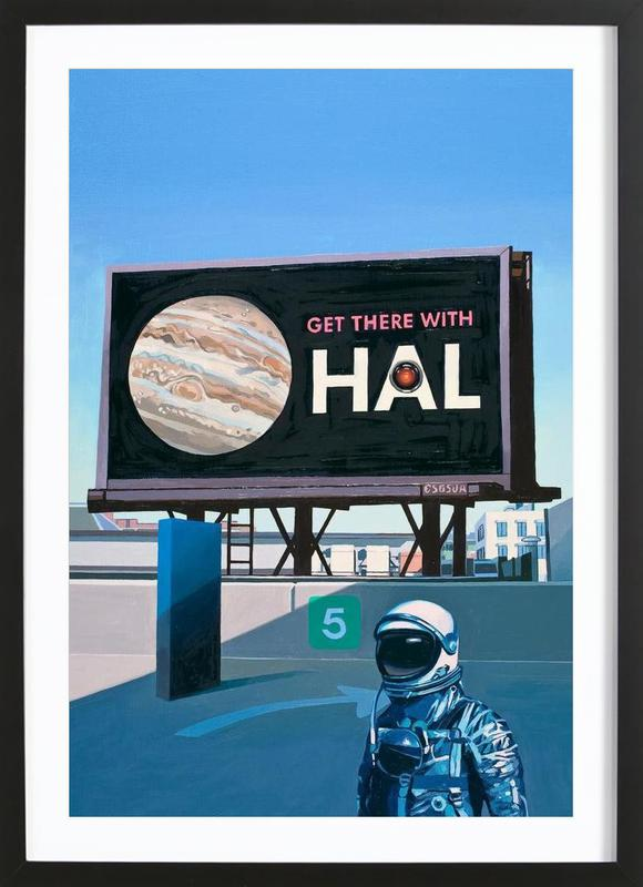 Get There With HAL Framed Print