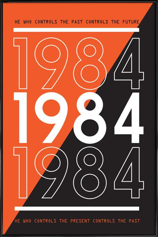 1984 -Bild mit Kunststoffrahmen