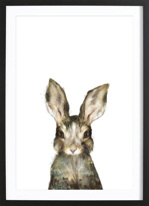 Little Rabbit -Bild mit Holzrahmen