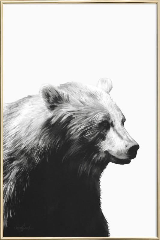 Calm Black and White Poster in Aluminium Frame