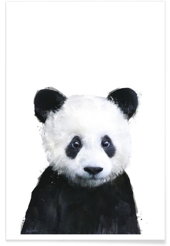Illustration de petit panda affiche