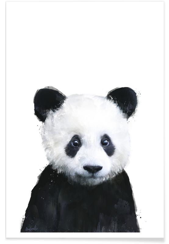 Little Panda Illustration Poster