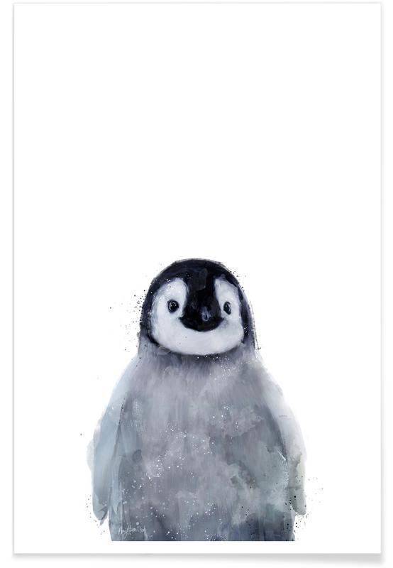 Illustration de petit pingouin affiche