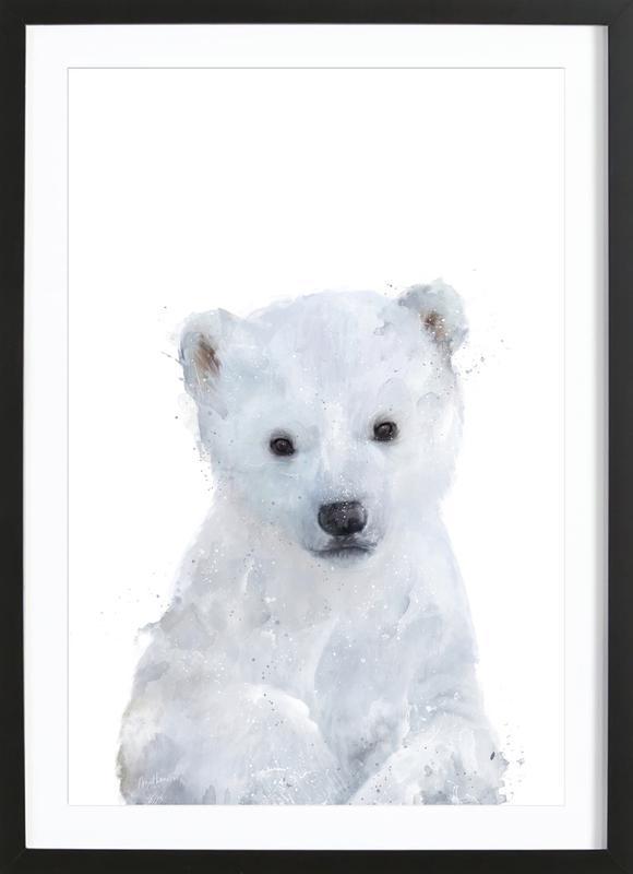 Little Polar Bear affiche sous cadre en bois