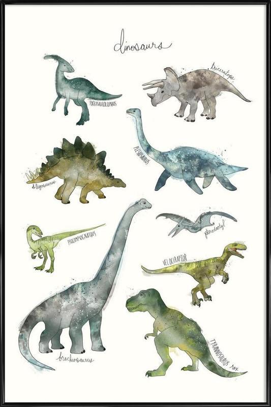 Dinosaurs -Bild mit Kunststoffrahmen