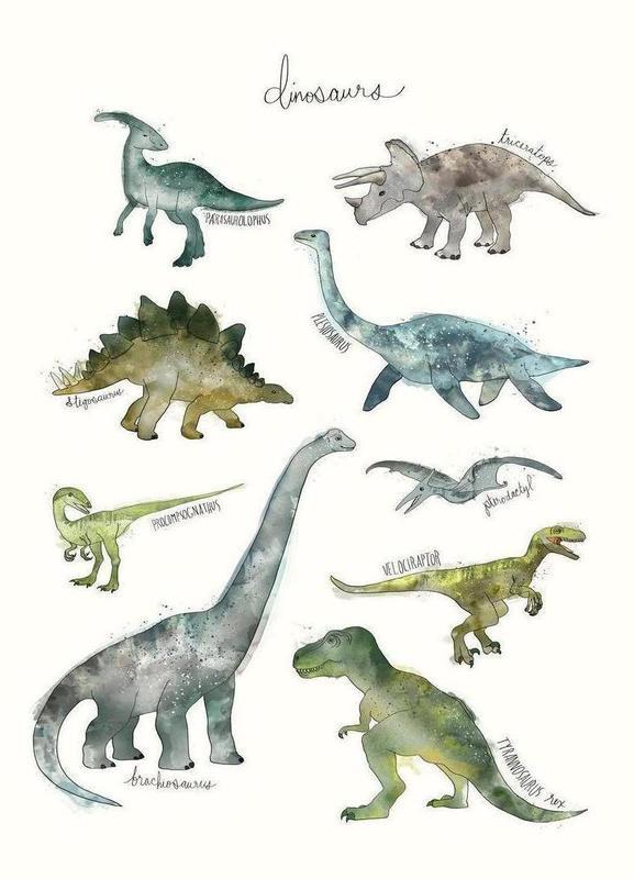 Dinosaurs canvas doek