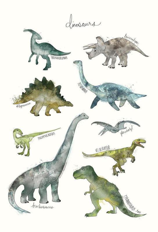 Dinosaurs acrylglas print