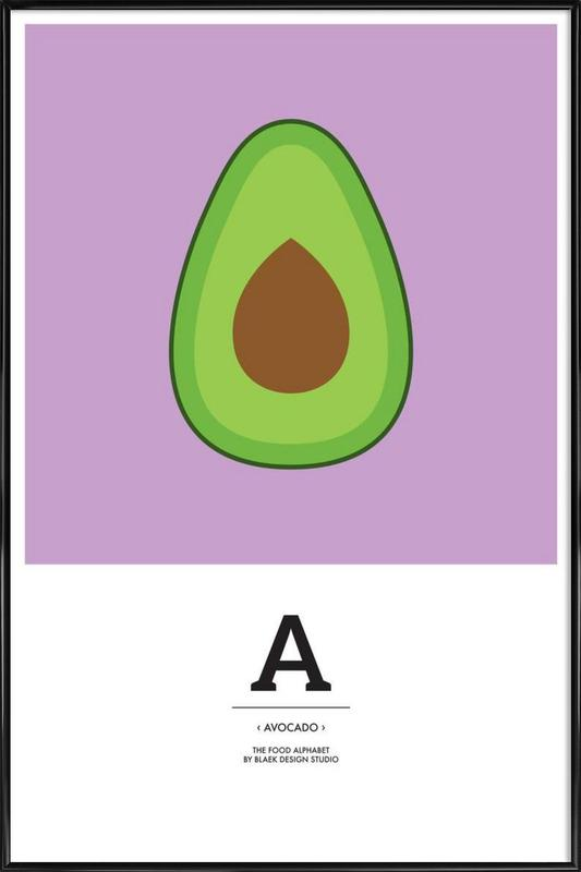 """The Food Alphabet"" - A like Avocado ingelijste poster"
