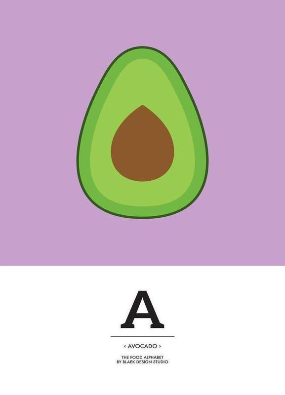 """The Food Alphabet"" - A like Avocado Canvas Print"