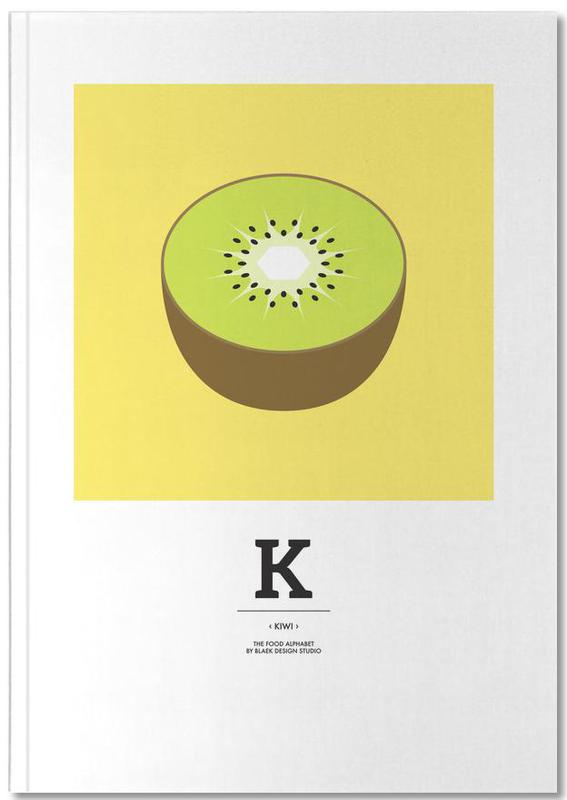 """The Food Alphabet"" - K like Kiwi Notebook"