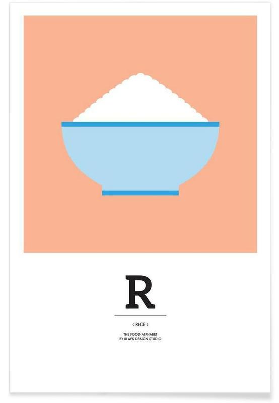 """The Food Alphabet"" - R like Rice poster"