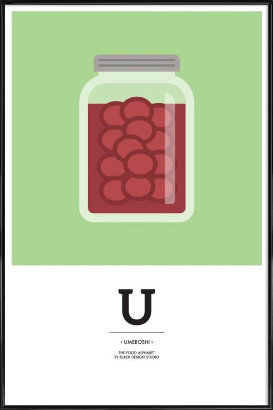 """The Food Alphabet"" - U like Umeboshi ingelijste poster"