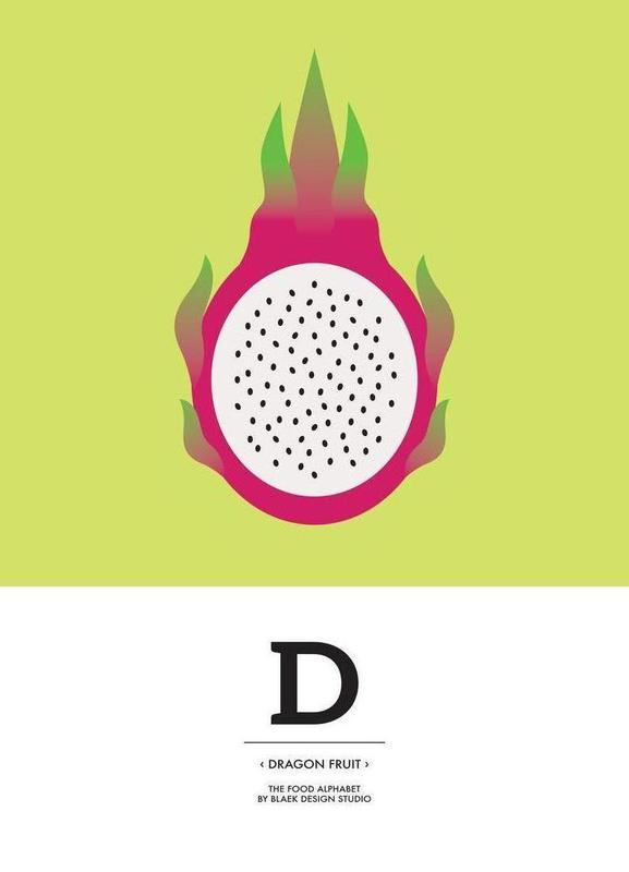 """The Food Alphabet"" - D like Dragon Fruit Canvas Print"