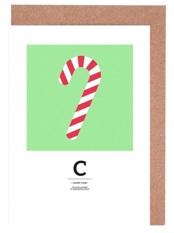 Food Alphabet Xmas Edition C cartes de vœux