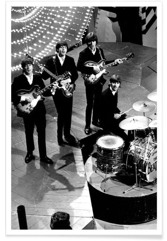 Les Beatles, 1966 - Photographie vintage affiche