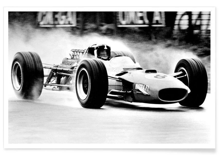 Formel 1-Vintage-Fotografie -Poster