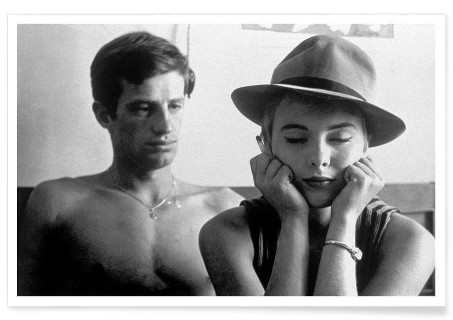 Jean-Paul Belmondo and Jean Seberg in Breathless, 1960 affiche