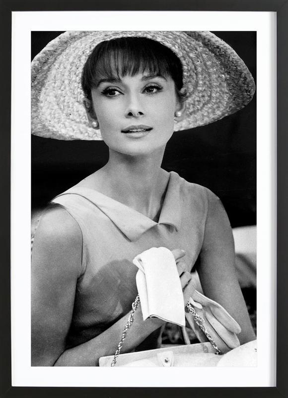 Audrey Hepburn 4 -Bild mit Holzrahmen