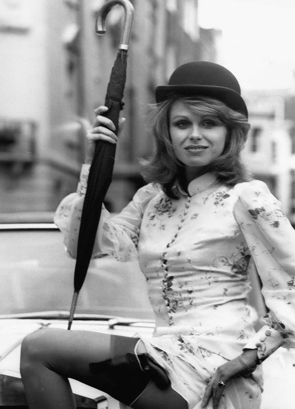 Joanna Lumley as the new 'Avengers' girl toile