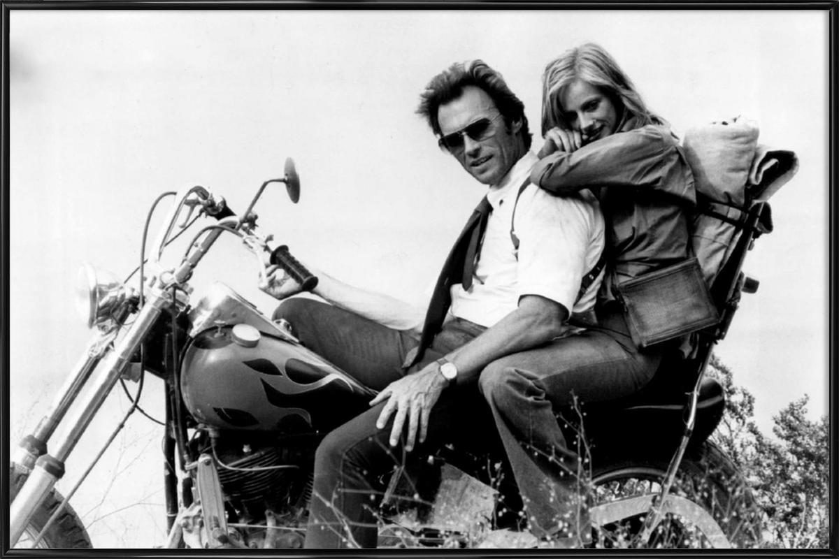 Clint Eastwood & Sondra Locke in 'The Gauntlet' ingelijste poster