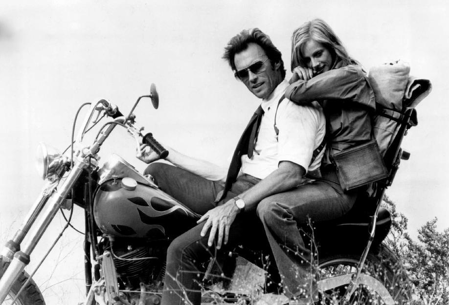 Clint Eastwood & Sondra Locke in 'The Gauntlet' tableau en verre