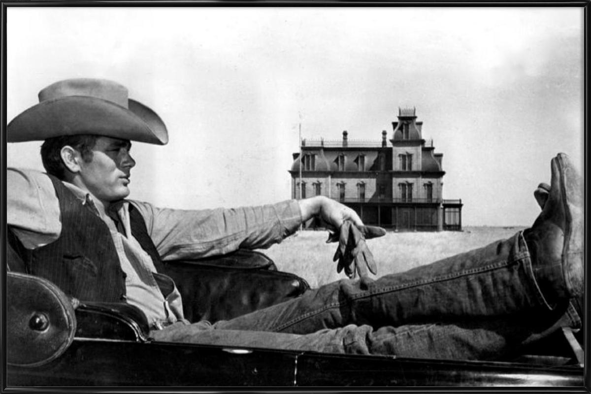 James Dean in 'Giant' affiche encadrée