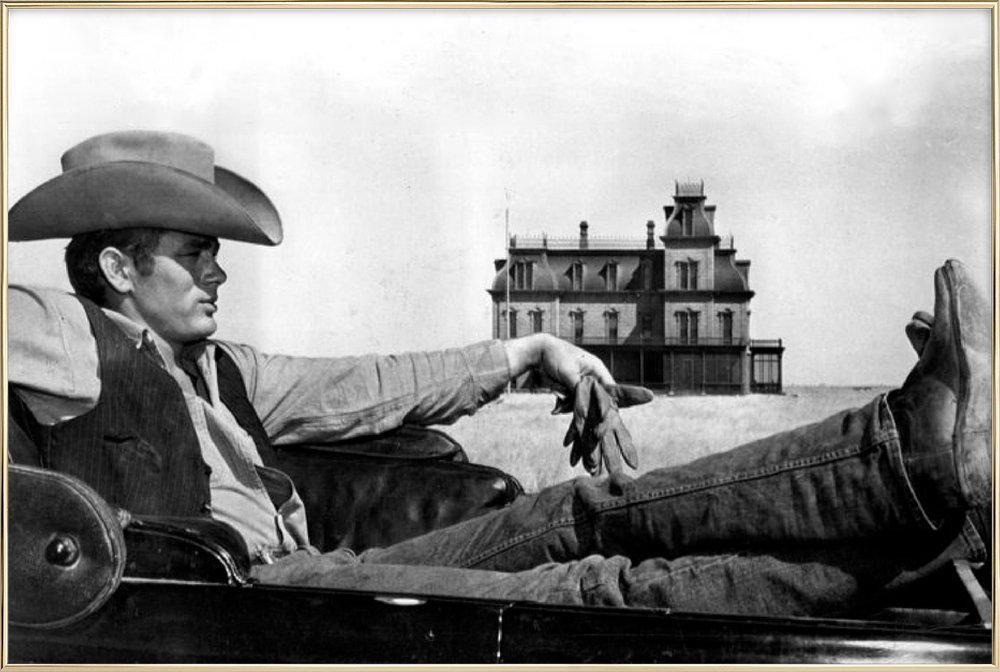 James Dean in 'Giant' Poster in Aluminium Frame