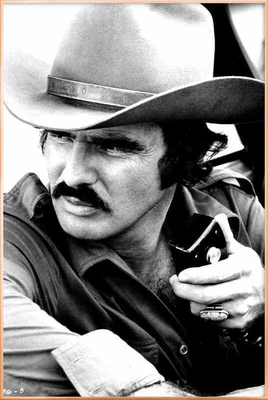 Burt Reynolds in 'Smokey and the Bandit' affiche sous cadre en aluminium
