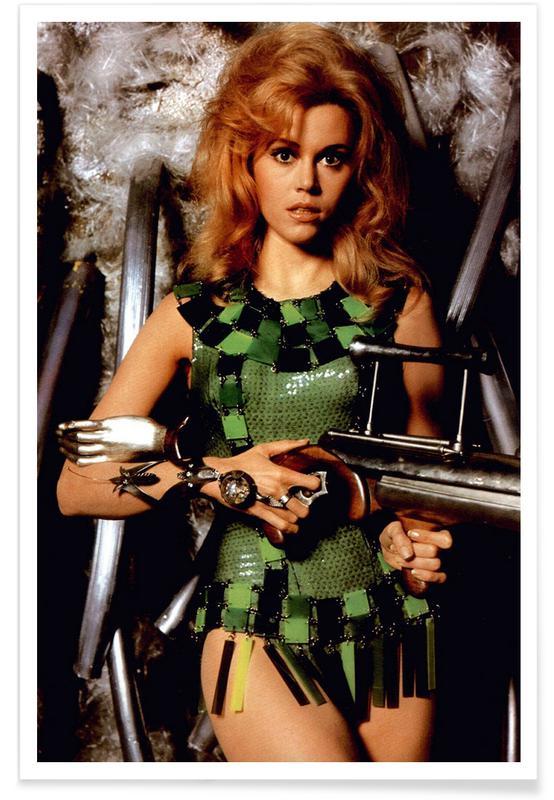 Jane Fonda dans le rôle de Barbarella - Photographie affiche