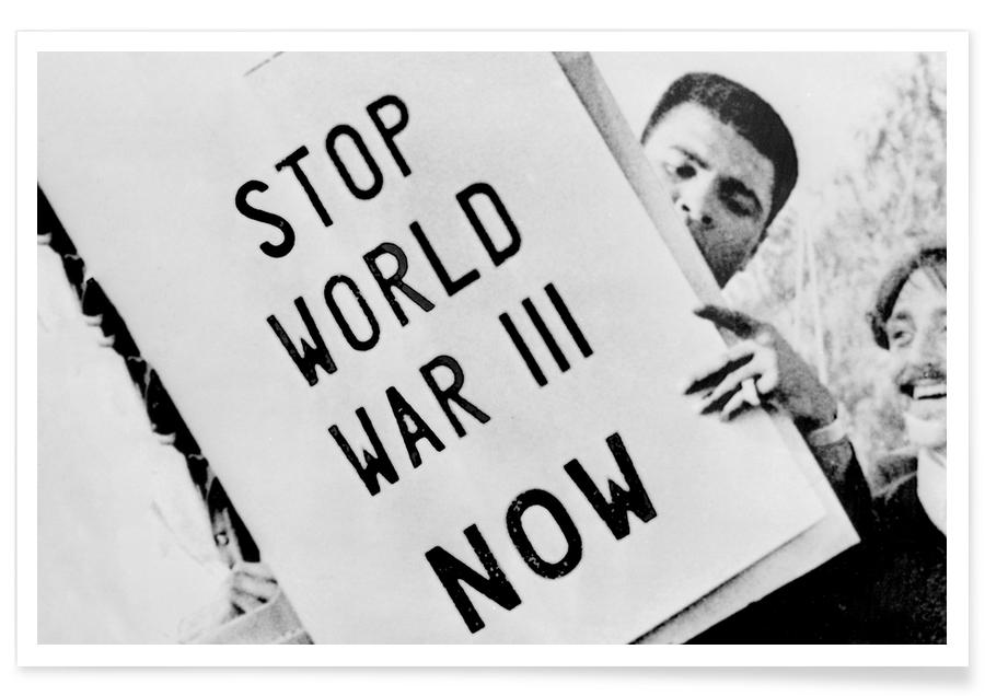 Manifestation contre la guerre avec Cassius Clay - Photographie affiche