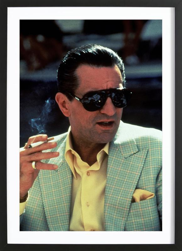 Robert De Niro in 'Casino', 1995 -Bild mit Holzrahmen