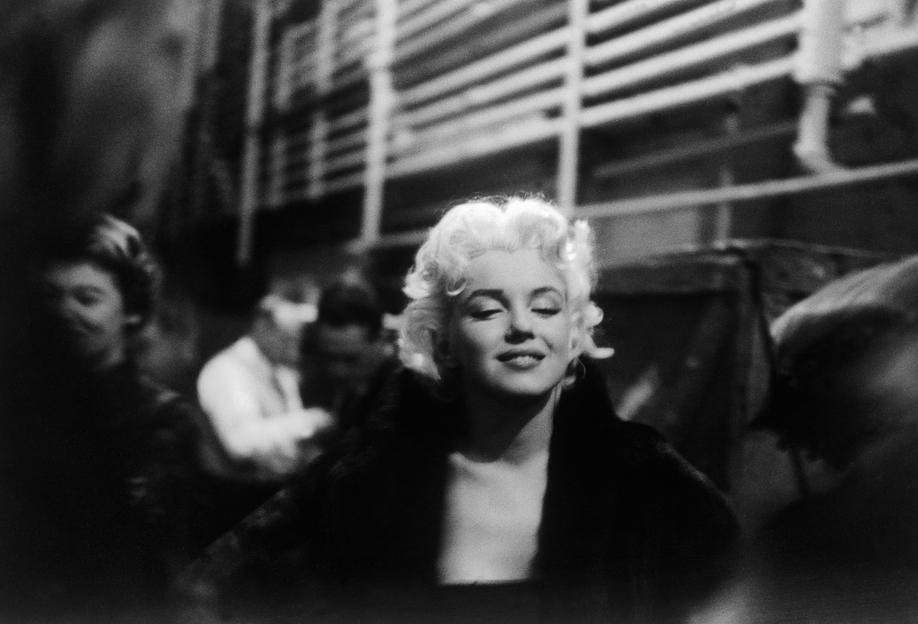 Marilyn Monroe on Subway Impression sur alu-Dibond