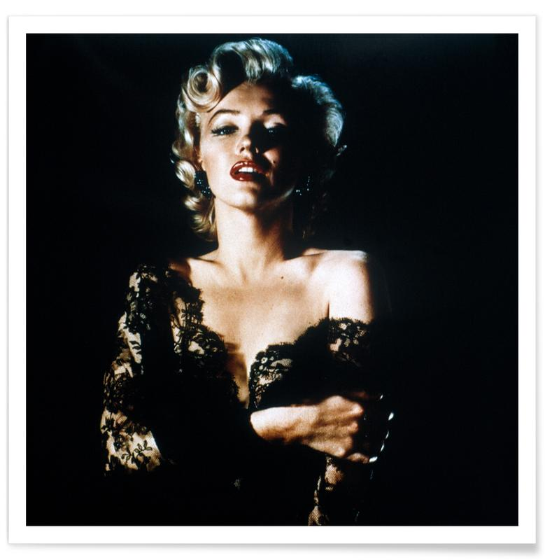 Marilyn Monroe wearing Black Lace poster