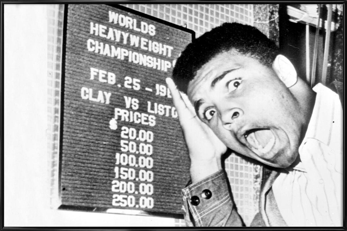 The New World Heavyweight Champion Cassius Clay, 26 February 1964 affiche encadrée