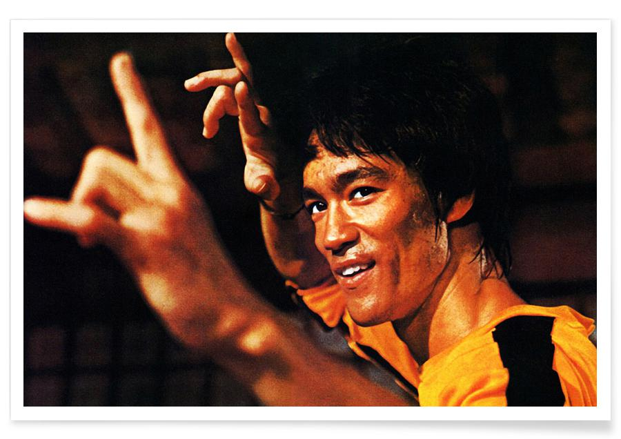 Bruce Lee in Game of Death Photograph Poster