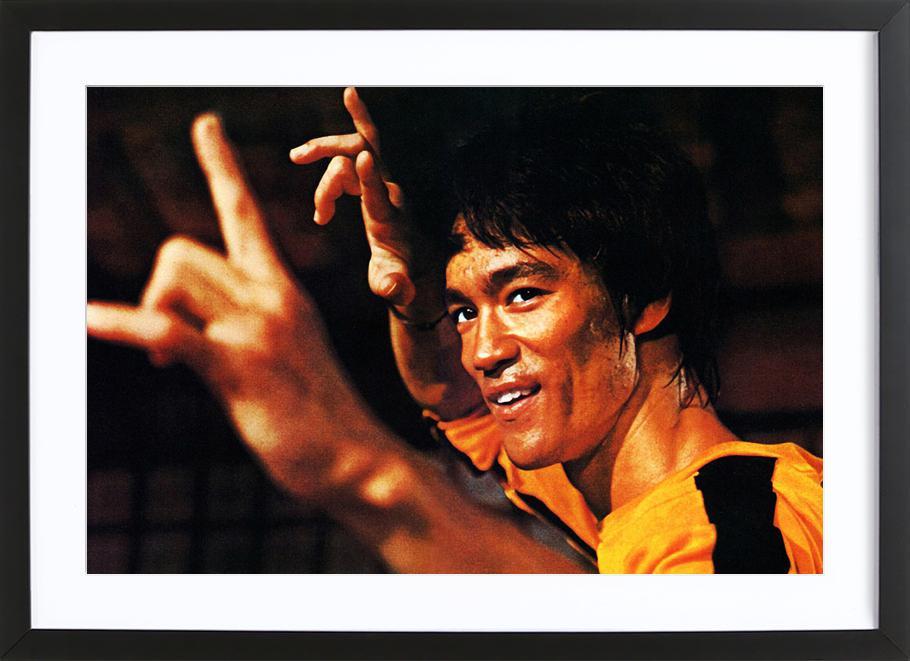 Bruce Lee in 'Game of Death' affiche sous cadre en bois