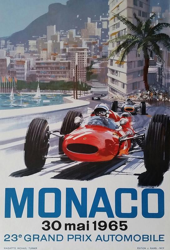 Monaco 1965 Acrylic Print