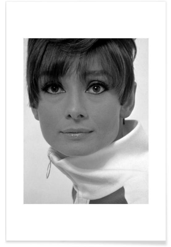 Audrey Hepburn, 1966-Vintage-Fotografie -Poster