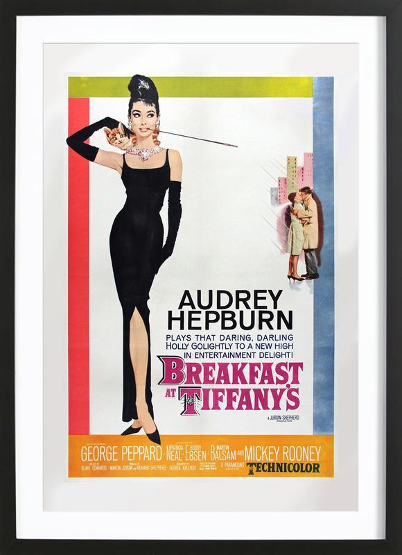 'Breakfast at Tiffany's' Retro Movie Poster -Bild mit Holzrahmen