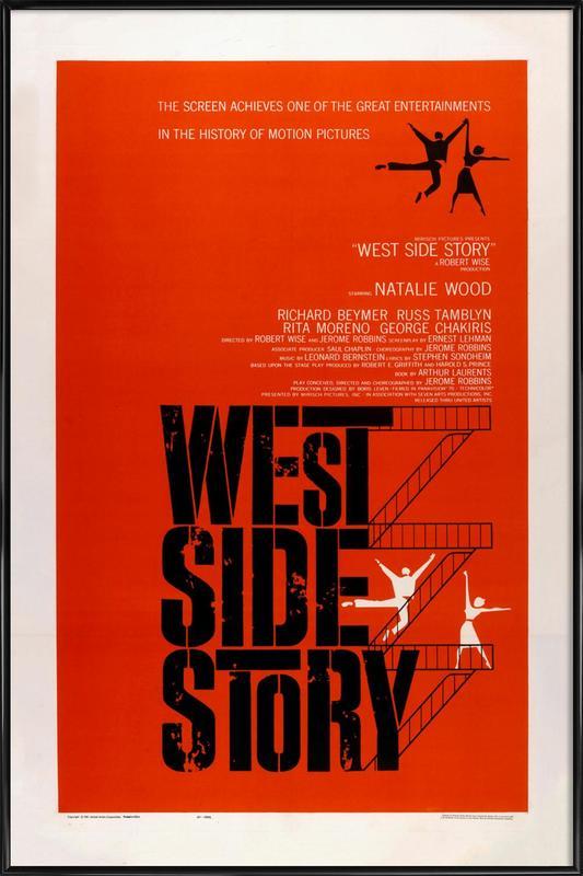 'West Side Story' Retro Movie Poster Framed Poster