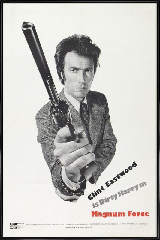 'Magnum Force' Retro Movie Poster -Bild mit Kunststoffrahmen