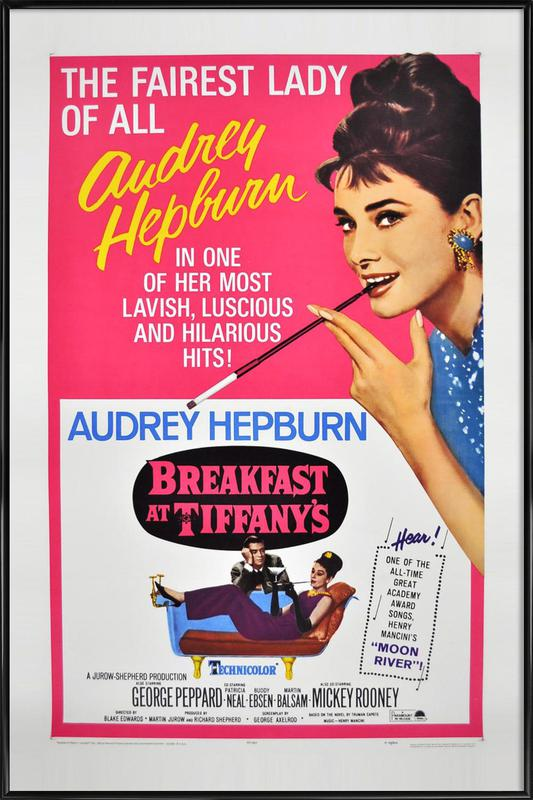 'Breakfast at Tiffany's' Movie Poster -Bild mit Kunststoffrahmen