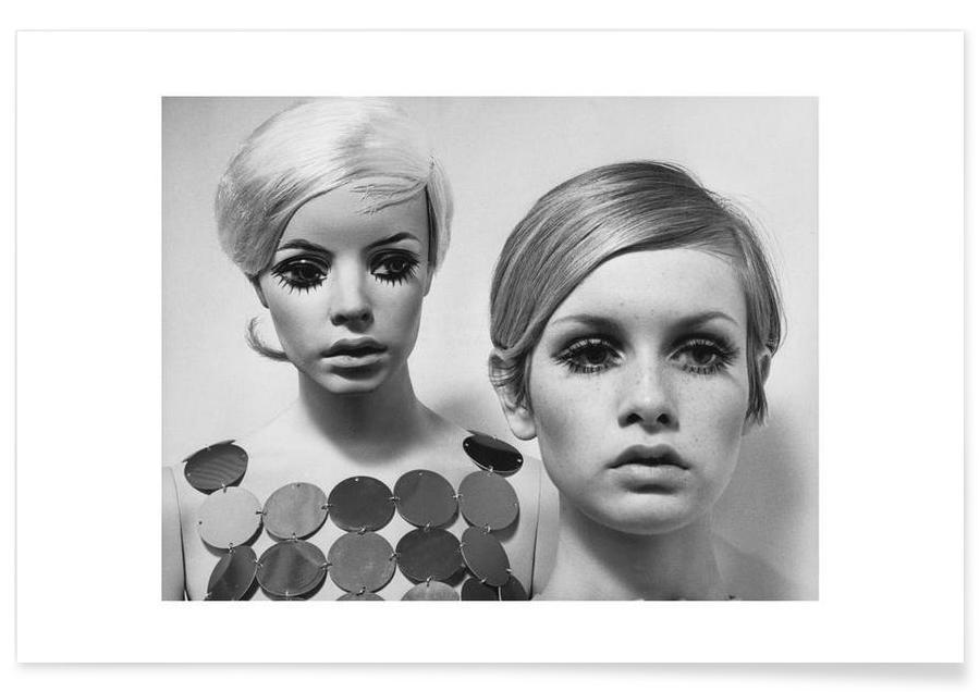 Twiggy and Mannequin, 1966 -Poster