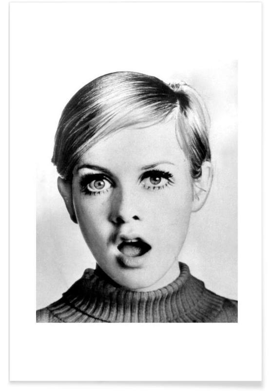 Twiggy, 1966 Vintage Photograph Poster