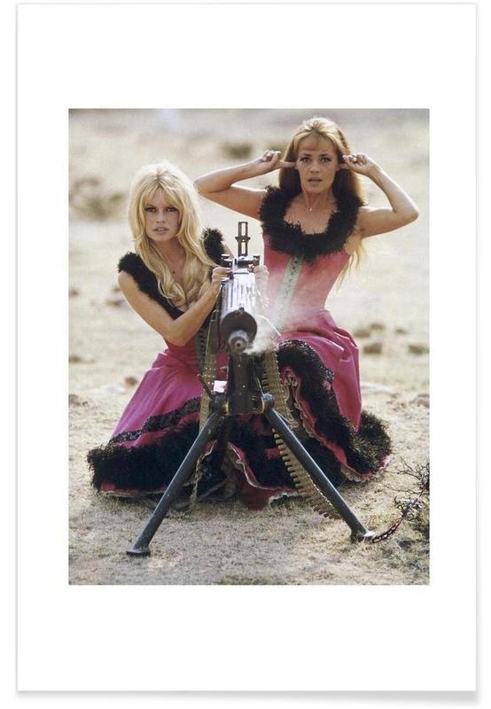 Brigitte Bardot and Jeanne Moreau, 1965 -Poster