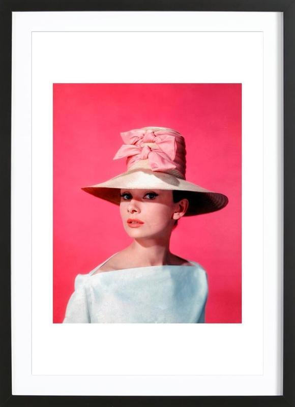 Audrey Hepburn in Funny Face, 1957 -Bild mit Holzrahmen