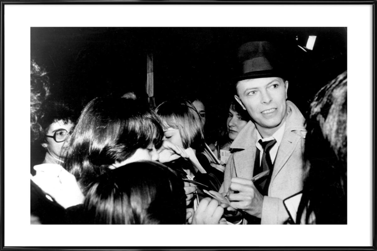 David Bowie -Bild mit Kunststoffrahmen