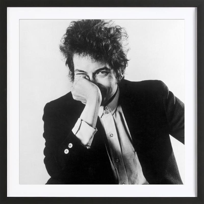 Bob Dylan -Bild mit Holzrahmen