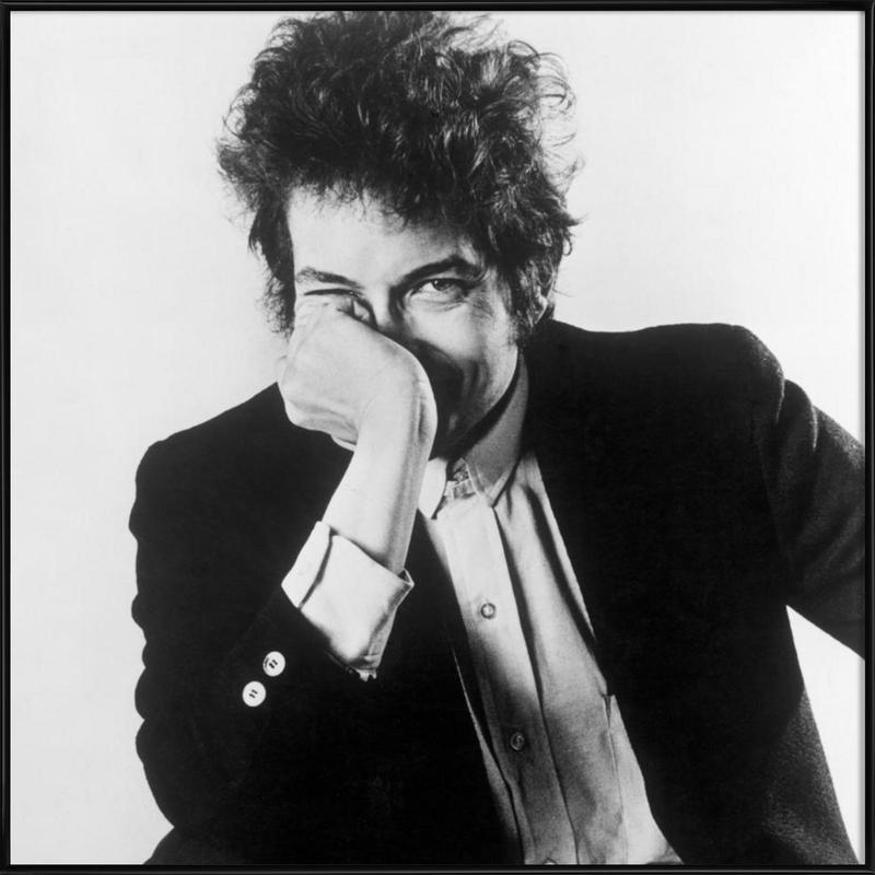 Bob Dylan -Bild mit Kunststoffrahmen